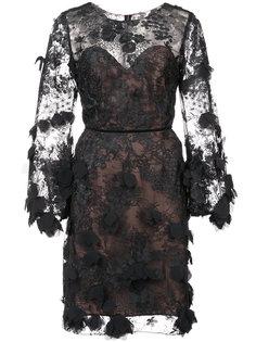 кружевное платье шифт  Marchesa Notte