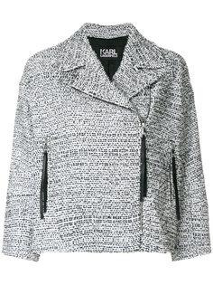 твидовая байкерская куртка Karl Lagerfeld