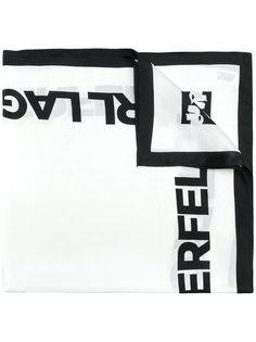шарф с принтом логотипа Karl Lagerfeld