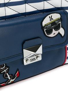 полосатая мини-сумка-тоут Captain Karl Karl Lagerfeld