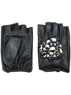 перчатки с кристаллами Karl Lagerfeld