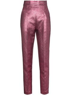 жаккардовые брюки с завышенной талией Philosophy Di Lorenzo Serafini