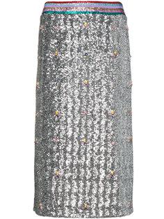 юбка-карандаш с пайетками Sigma Mary Katrantzou