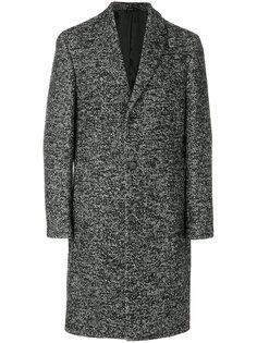 твидовое однобортное пальто Calvin Klein