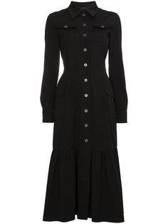 многослойное платье-рубашка  Alberta Ferretti