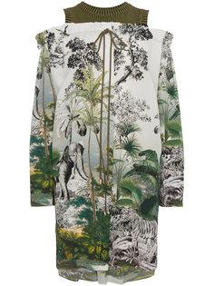 платье с вырезами на плечах Alberta Ferretti