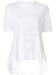 футболка с вышивкой логотипа Fendi