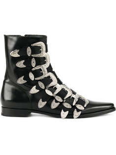 buckled fitted boots Dsquared2