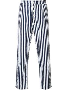 брюки с узором в вертикальную полоску Sunnei