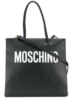 сумка-шоппер с логотипом Moschino