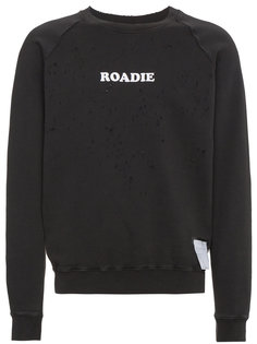 Roadie moth eaten sweatshirt Satisfy