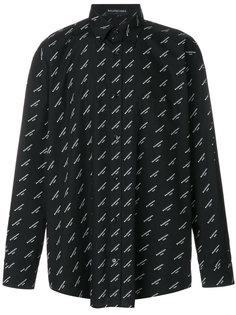 рубашка Bal Normal Fit Balenciaga