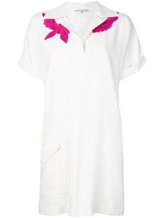платье-поло с вышивкой Marco De Vincenzo