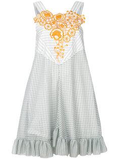 платье мини в полоску Marco De Vincenzo