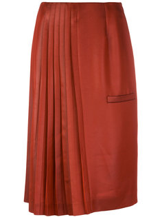 юбка миди с плиссировкой Marco De Vincenzo