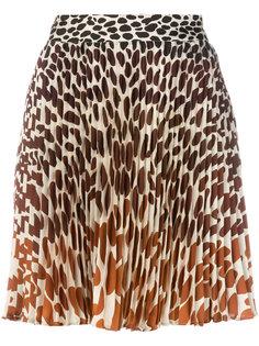 плиссированная юбка с леопардовым принтом Marco De Vincenzo