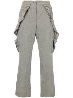 брюки с плиссировкой в клетку гингем Marco De Vincenzo