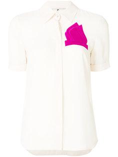 рубашка с вышитым нагрудным платком Marco De Vincenzo