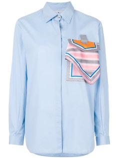 поплиновая рубашка с платком Marco De Vincenzo