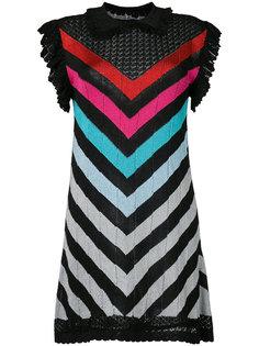 платье в полоску с люрексом Marco De Vincenzo