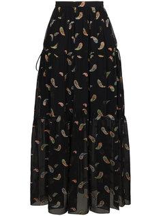 юбка макси с принтом пейсли  Chloé