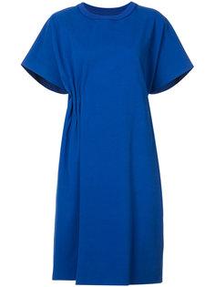 присборенное сбоку платье-футболка Maison Margiela