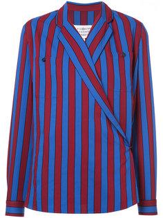 полосатая блузка с запахом Maison Margiela
