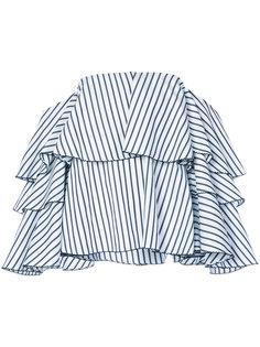 блузка в полоску с открытыми плечами Caroline Constas
