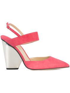 туфли с устойчивым каблуком с зеркальной отделкой Paul Andrew