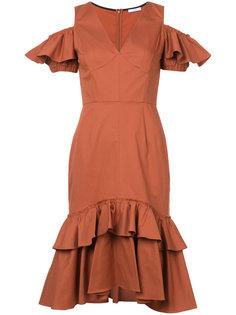 платье с открытыми плечами и оборками Tome