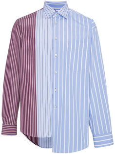 асимметрчиная рубашка в полоску Marni