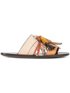 сандалии с кисточками See By Chloé
