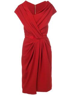 асимметричное платье со сборкой Vionnet