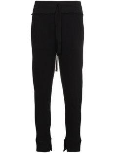 спортивные брюки с высокой талией с ребристой фактурой Ann Demeulemeester