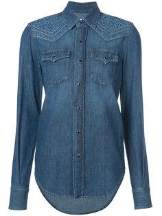 джинсовая рубашка с отделкой в стиле вестерн Saint Laurent