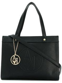 сумка-тоут с тисненым логотипом  Armani Jeans