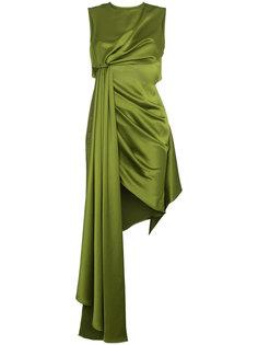 драпированное платье без рукавов Off-White