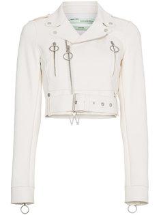 кожаная куртка Off-White