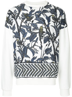 leaf printed sweatshirt Yoshiokubo