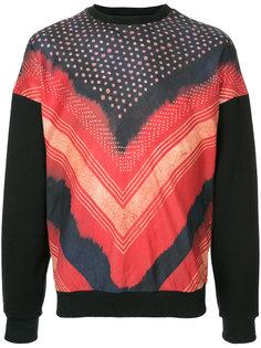 Shibori printed sweatshirt Yoshiokubo