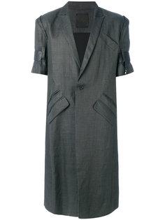 пальто с кожаной отделкой на рукавах Lost & Found Ria Dunn