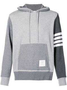 Hoodie Pullover With Tonal Fun Mix In Classic Loop Back With Engineered 4-Bar Thom Browne