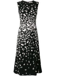 платье с принтом бабочек Bottega Veneta