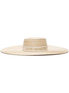 соломенная шляпа с широкими полями Off-White