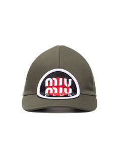 кепка с нашивкой логотипа Miu Miu