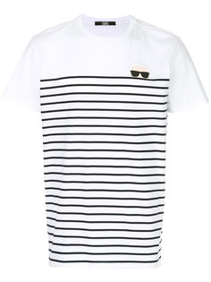 футболка в полоску Karl Ikonik Karl Lagerfeld