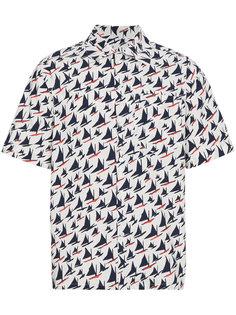 рубашка с короткими рукавами с парусниками Marni