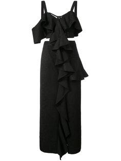 длинное платье с декором из оборок Proenza Schouler