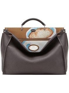 сумка-тоут Peekaboo с принтом Fendi