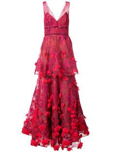 платье с 3D вышивкой  Marchesa Notte